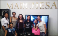 teen fashion camp visit to marchesa